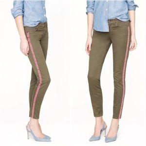 J.Crew Ankle Skinny Tux Stripe Twill Jeans